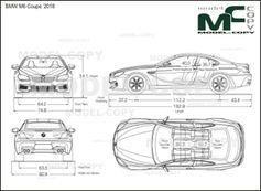 BMW M6 Coupe '2018 - drawing