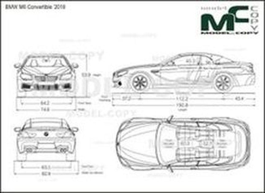 BMW M6 Convertible '2018 - Dibujo 2D