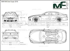 BMW M6 Gran Coupe '2018 - drawing