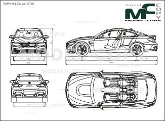 BMW M4 Coupe '2018 - drawing