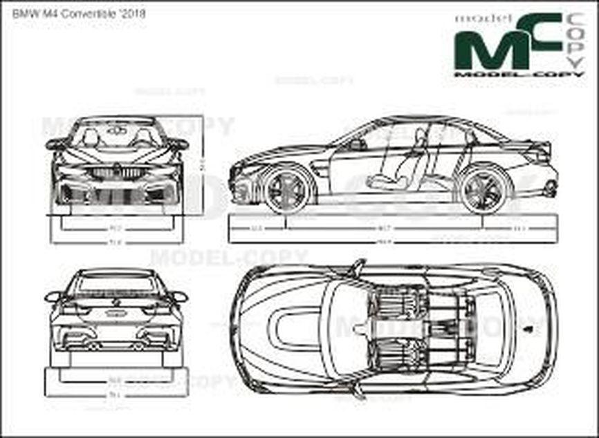 BMW M4 Convertible '2018 - drawing