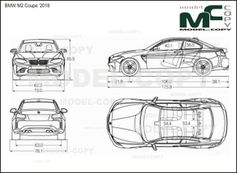 BMW M2 Coupe '2018 - drawing
