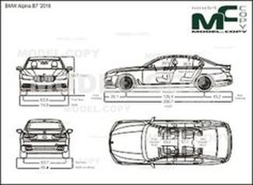 BMW Alpina B7 '2018 - drawing