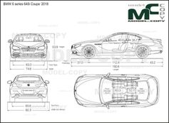 BMW 6 series 640i Coupe '2018 - drawing