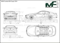 BMW 6 series 650i Coupe '2018 - drawing