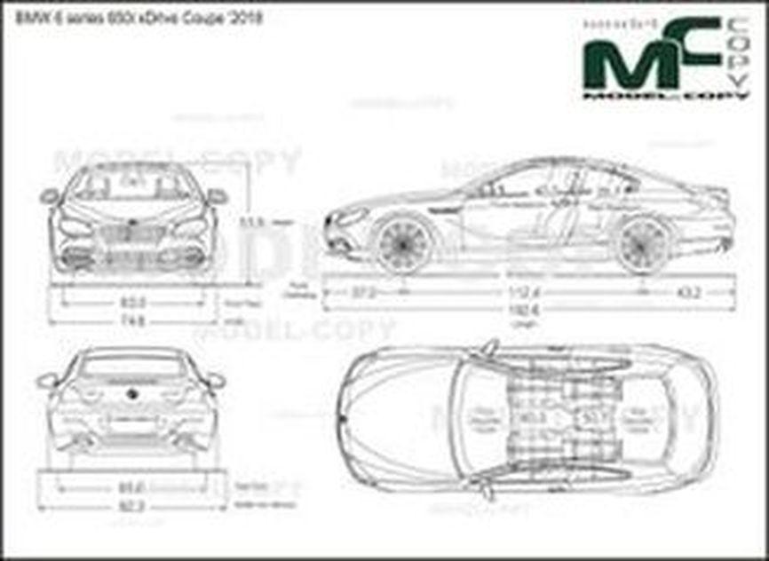 BMW 6 series 650i xDrive Coupe '2018 - 2D kresba