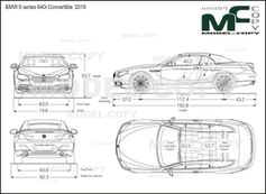 BMW 6 series 640i Convertible '2018 - drawing