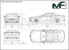 BMW 6 series 650i Convertible '2018 - drawing