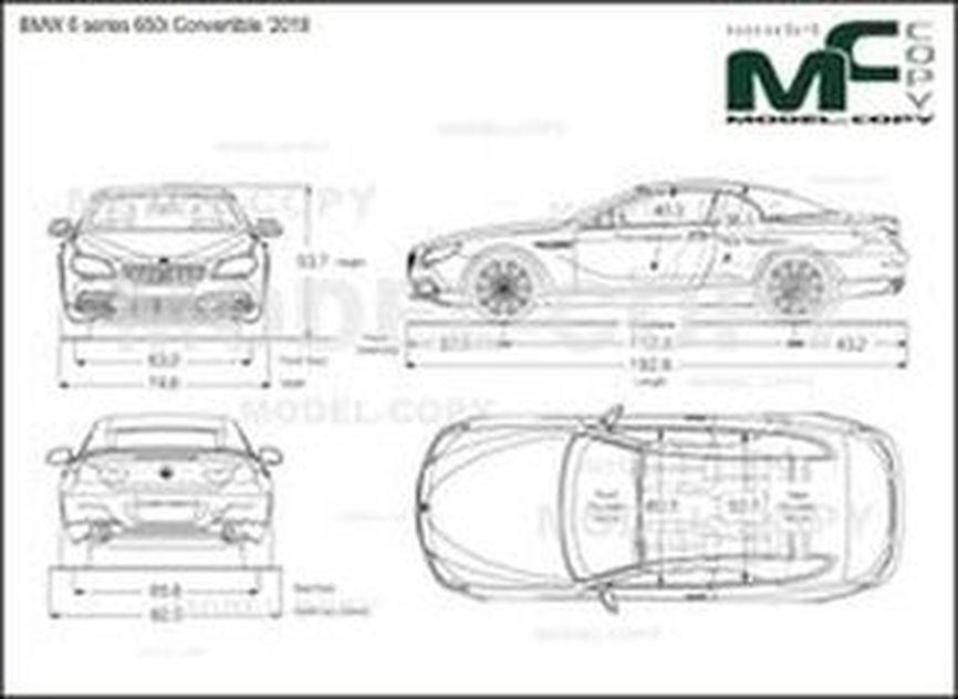 BMW 6 series 650i Convertible '2018 - 2D kresba