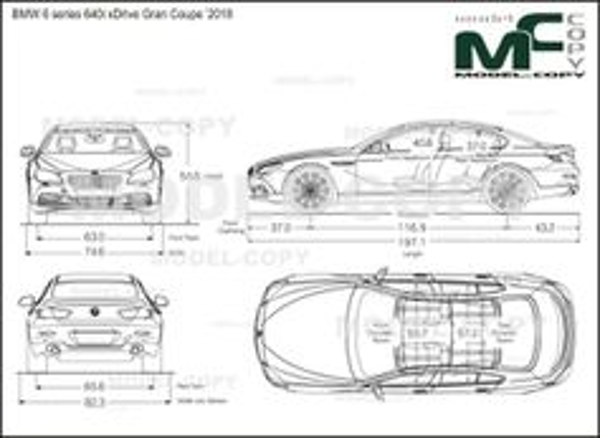 BMW 6 series 640i xDrive Gran Coupe '2018 - drawing
