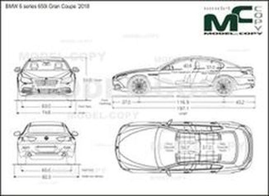 BMW 6 series 650i Gran Coupe '2018 - 2D-piirustus