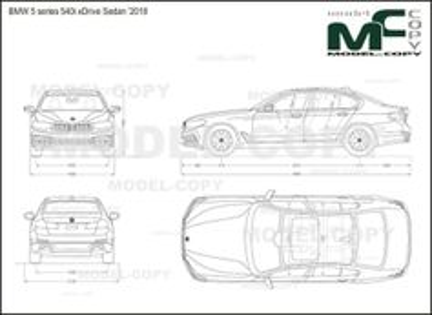 BMW 5 series 540i xDrive Sedan '2018 - drawing