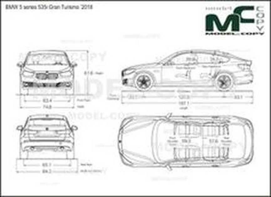 BMW 5 series 535i Gran Turismo '2018 - drawing