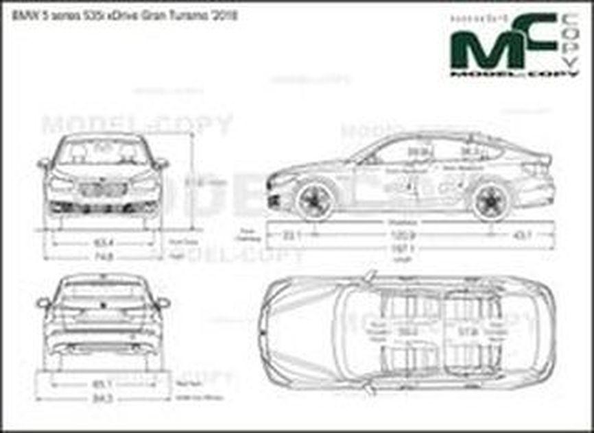 BMW 5 series 535i xDrive Gran Turismo '2018 - drawing