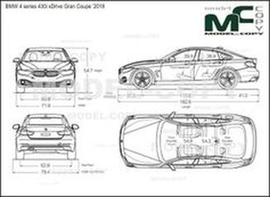 BMW 4 series 430i xDrive Gran Coupe '2018 - drawing