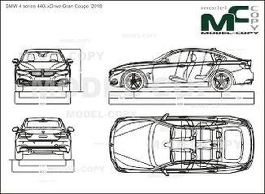 BMW 4 series 440i xDrive Gran Coupe '2018 - drawing