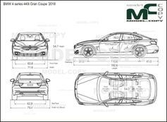 BMW 4 series 440i Gran Coupe '2018 - drawing