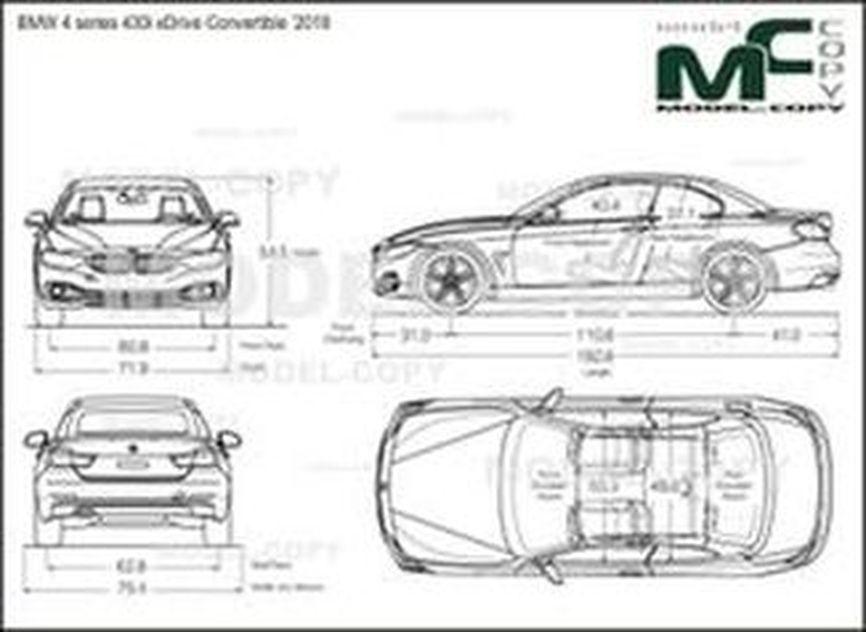 BMW 4 series 430i xDrive Convertible '2018 - drawing