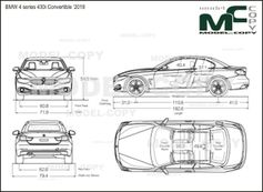 BMW 4 series 430i Convertible '2018 - drawing