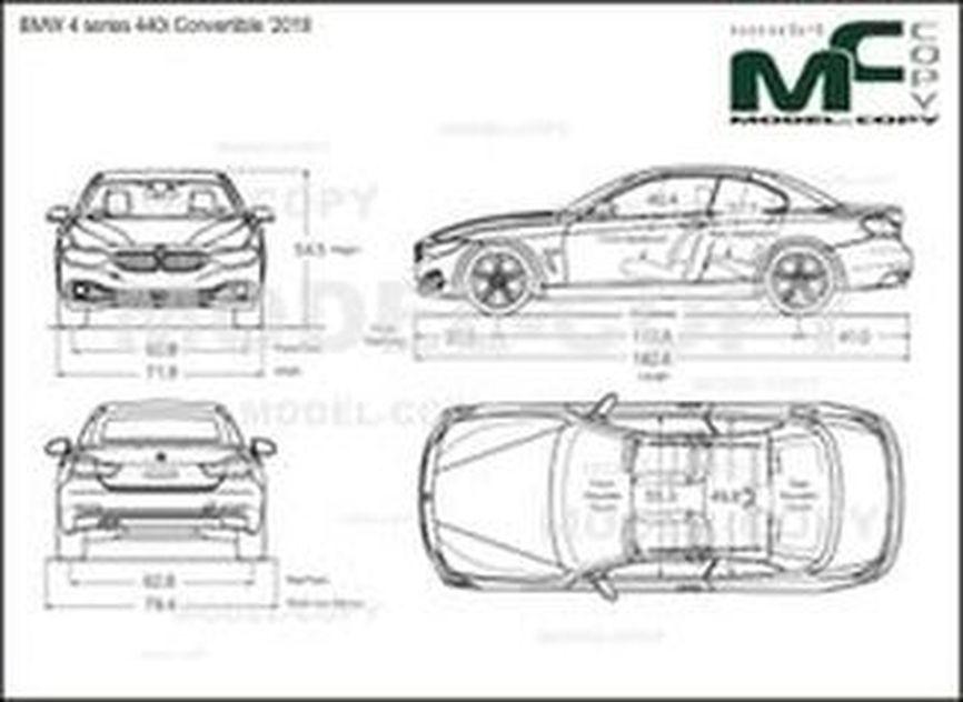 BMW 4 series 440i Convertible '2018 - drawing