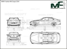 BMW 4 series 440i Coupe '2018 - drawing