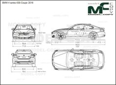 BMW 4 series 430i Coupe '2018 - drawing