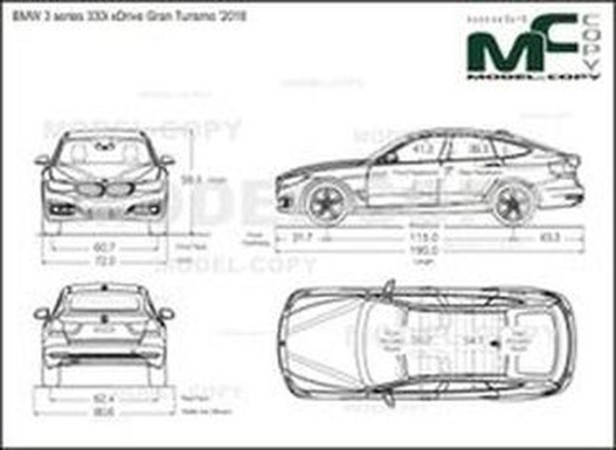 BMW 3 series 330i xDrive Gran Turismo '2018 - drawing