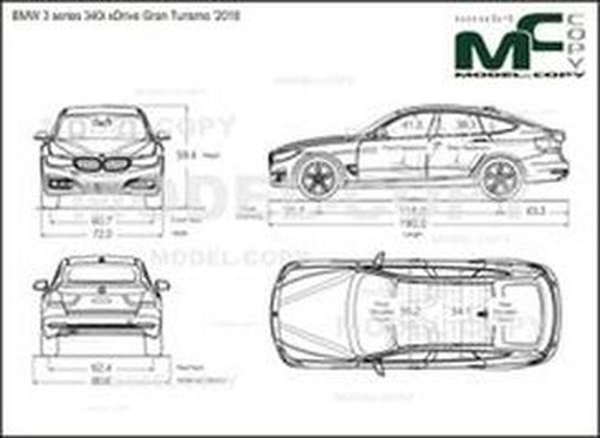 BMW 3 series 340i xDrive Gran Turismo '2018 - drawing