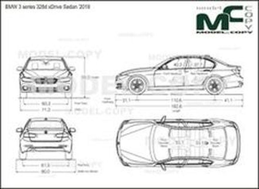BMW 3 series 328d xDrive Sedan '2018 - drawing