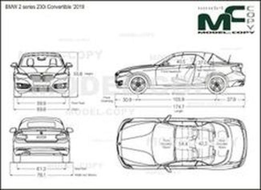 BMW 2 series 230i Convertible '2018 - drawing