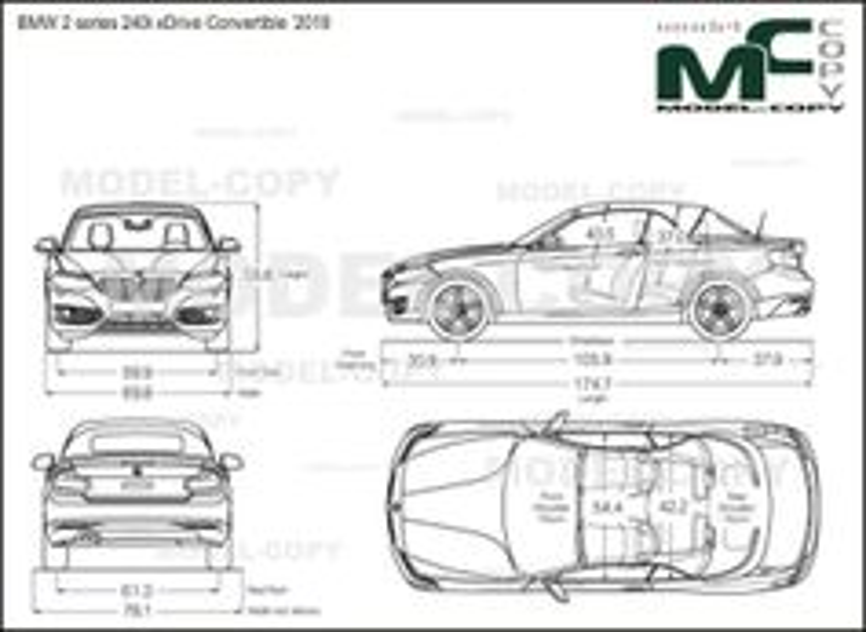 BMW 2 series 240i xDrive Convertible '2018 - drawing