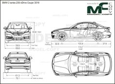 BMW 2 series 230i xDrive Coupe '2018 - drawing