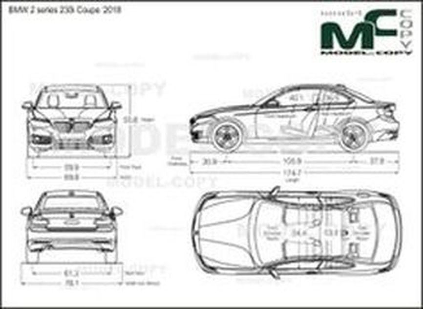 BMW 2 series 230i Coupe '2018 - 2D rajz
