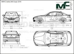 BMW 2 series 240i Coupe '2018 - drawing