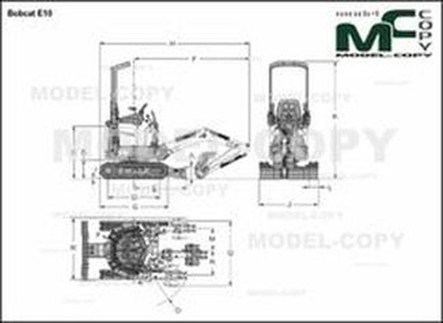 Bobcat E10 - 2D drawing (blueprints)