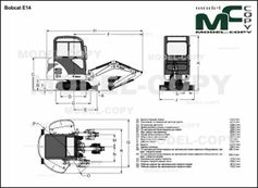 Bobcat E14 - 2D drawing (blueprints)