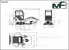 Bobcat E16 - 2D drawing (blueprints)