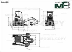 Bobcat E26 - 2D drawing (blueprints)