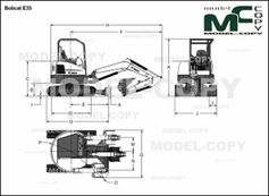 Bobcat E35 - 2D drawing (blueprints)