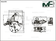 Bobcat E55 - 2D drawing (blueprints)