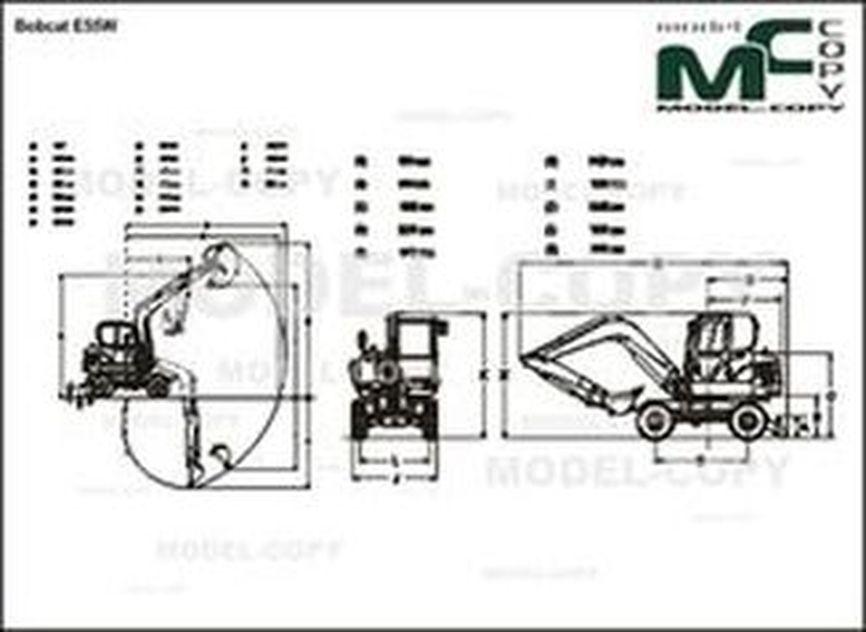 Bobcat E55W - 2D drawing (blueprints)