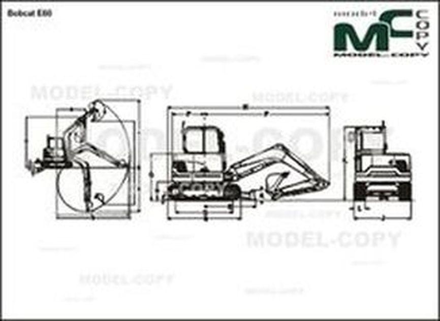 Bobcat E60 - 2D drawing (blueprints)