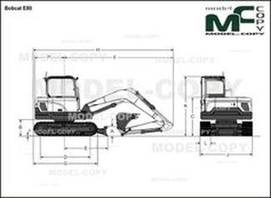 Bobcat E80 - 2D drawing (blueprints)