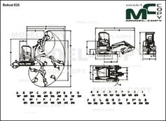 Bobcat E25 - 2D drawing (blueprints)