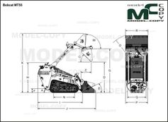 Bobcat MT55 - 2D drawing (blueprints)