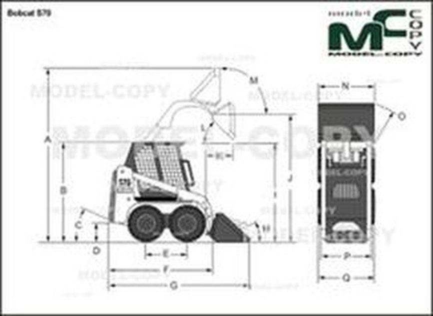 Bobcat S70 - 2D drawing (blueprints)
