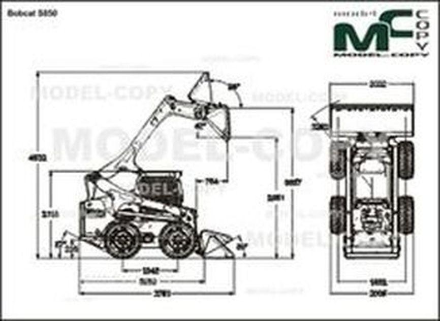 Bobcat S850 - 2D drawing (blueprints)