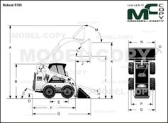 Bobcat S185 - 2D drawing (blueprints)