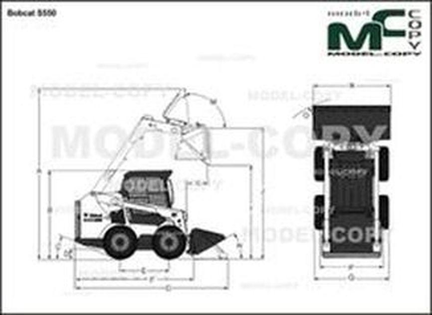 Bobcat S550 - 2D drawing (blueprints)