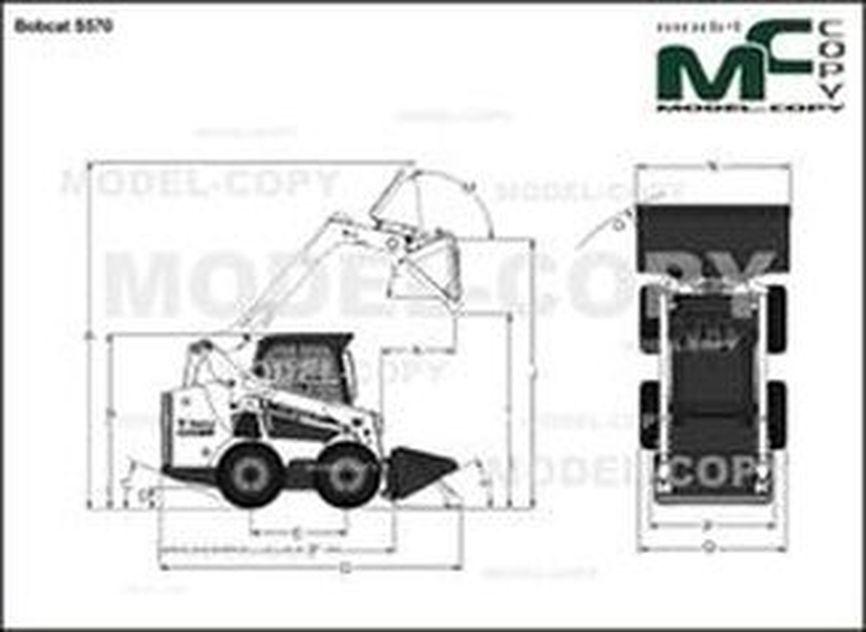 Bobcat S570 - 2D drawing (blueprints)